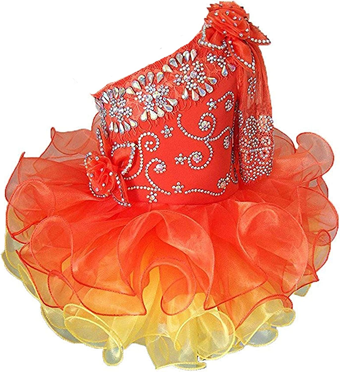 Leho Baby Girls' Crystals Cupcakes Charlotte Mall Mini Toddlers Pageant Dresses 4 years warranty