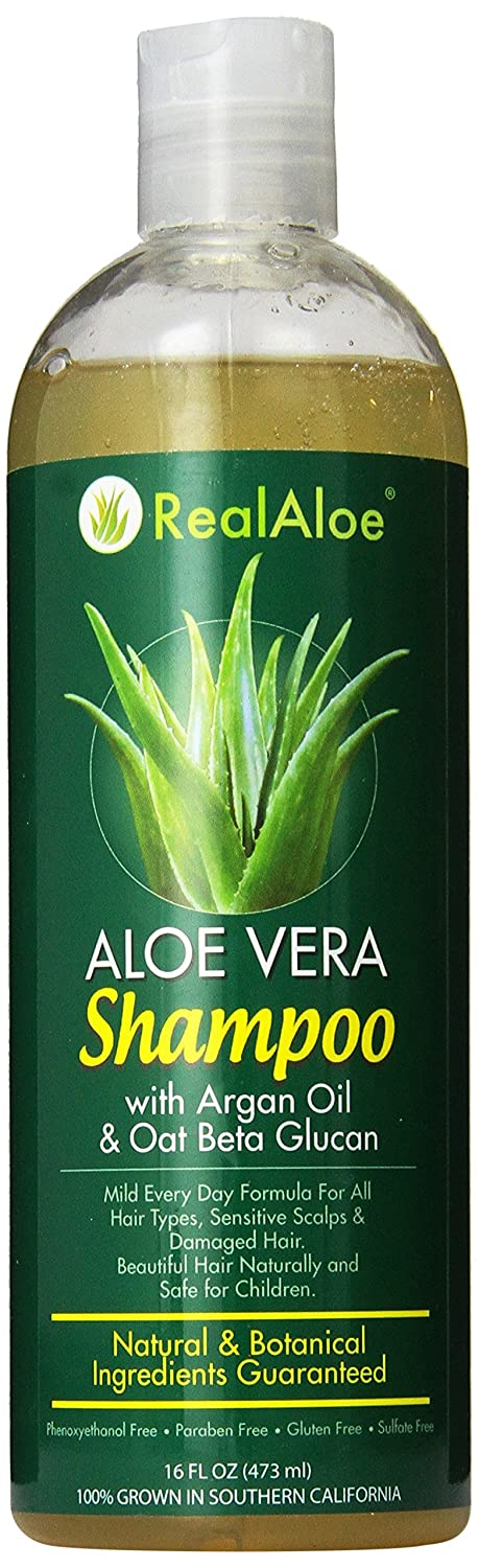 Real Aloe Vera A surprise price is realized Hair Shampoo with Beta 16 Oil Argan Oat O Max 67% OFF