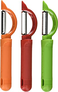 Messermeister 3-Piece Pro-Touch Peeler Trio Set, Stright Peeler, Serrated Peeler, Julienne Peeler