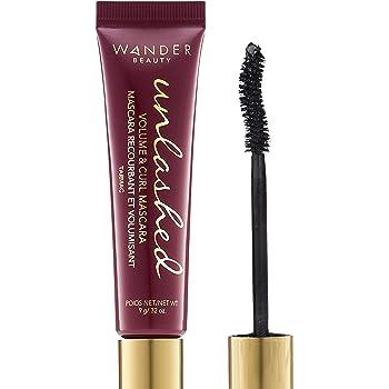 Wander Beauty Unlashed Volume & Curling Mascara - Cruelty Free, Vegan Black Mascara. Voluminous Lash, Lengthening Mascara, Conditioning, Strengthening. Volumizing Mascara ideal for Sensitive Eyes.