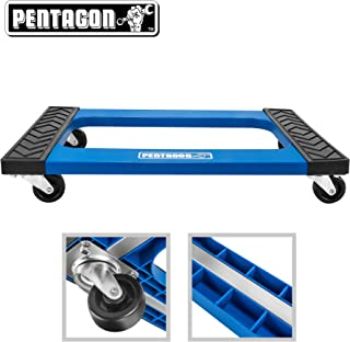 Heavy Duty American Oak H Dolly with Full Length Rubber Tread Dual Rail 18 X 30 with 4 Inch CASTERS 18x30