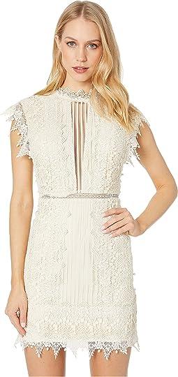 173a26951f93 Printed Chiffon Mock Neck Mini Dress. $1,112.99MSRP: $1,390.00. Cream
