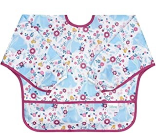 Bumkins Disney Cinderella Sleeved Bib / Baby Bib / Toddler Bib / Smock, Waterproof, Washable, Stain and Odor Resistant, 6-24 Months