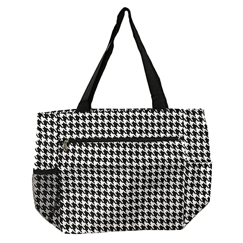 cf22e8d14f3 Large Tote Bag   13.5 Inch Shopping or Beach Bag by Unique Traveler ( Houndstooth-