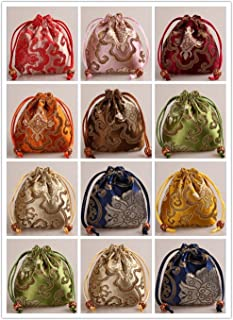 2500 Silk Brocade Pouch Jewelry Travel Drawstring Coin Purse Bag H4