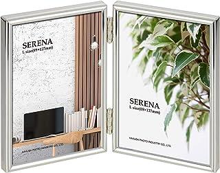 HAKUBA 額縁 メタルフォトフレーム SERENA 01(セレーナ 01) Lサイズ 2面 タテ シルバー FSR01-SVL2T
