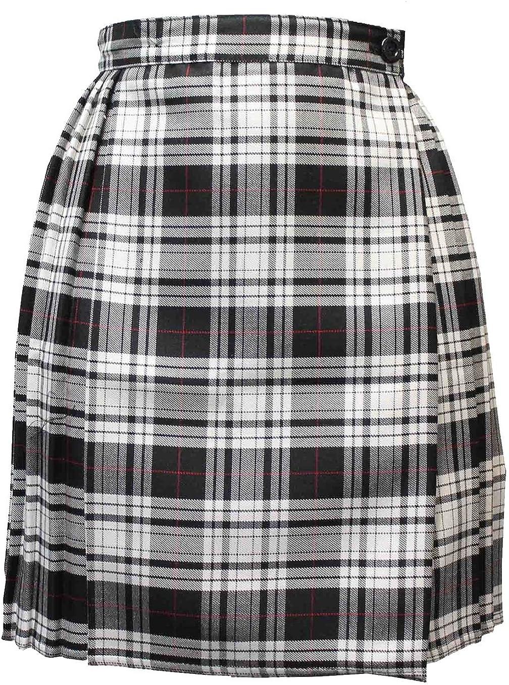 Rimi Hanger Womens Wrap Over Pleated Tartan Skirt Ladies Fancy Party Wear Short Midi Skirt US 4-20