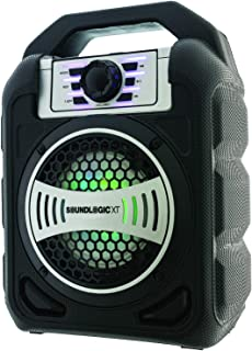 Portable Wireless Bluetooth Speaker Best Rugged Heavy Duty Stereo Boom Box Style FM Radio Micro SD & USB Slot 3.5mm Aux Jack LED Lights Pool Party Outdoor Birthday Camping (Rugged Blazer Speaker)