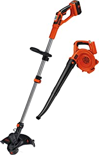 Kit combo recortador y barredora Black + Decker LCC140 40 V max cadena de litio ion