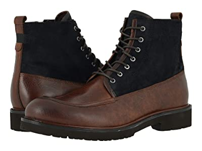 Johnston & Murphy Sanders Moc Toe Zip Boot (Dark Brown Oiled Full Grain) Men