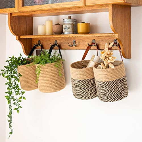 wholesale Goodpick popular Jute Woven Hanging Basket Set (Set outlet sale of 2) outlet sale