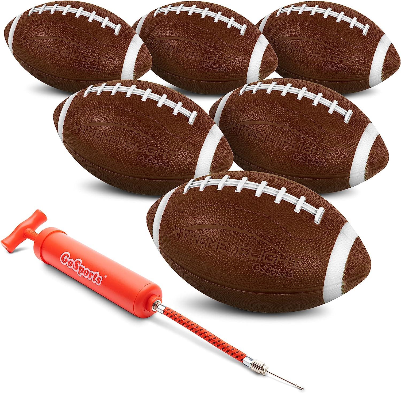 "GoSports Xtreme Flight Footballs 6 Pack, 9"" Rubber Inflatable Footballs : Sports & Outdoors"