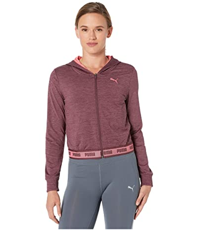 PUMA Soft Sports Drapey Full Zip Hoodie (Vineyard Wine) Women