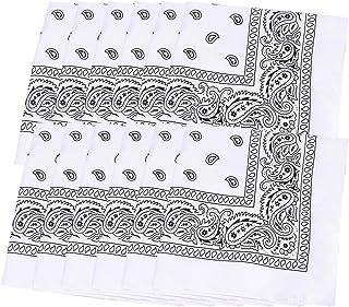 Pañuelos Bandanas Para Cabeza Y Cuello Unisex Para Hombre Y Mujer 12pcs