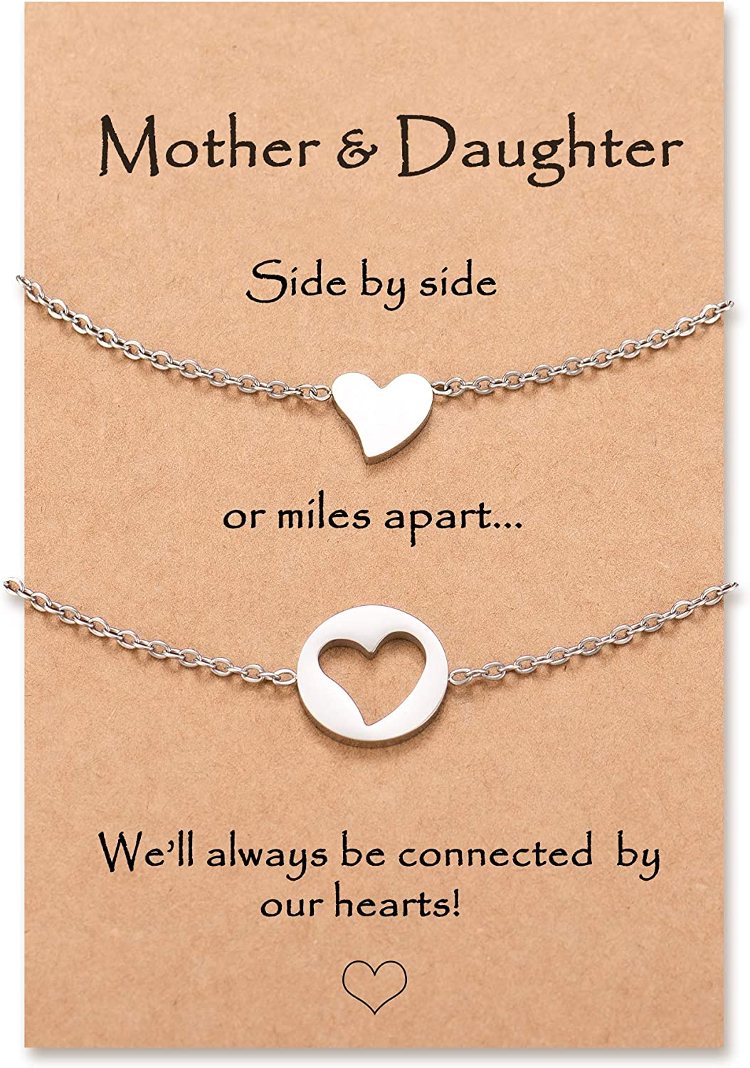 Lanqueen Back to School Gift Mothers Bracelets D New York Mall Daughter wholesale Mother