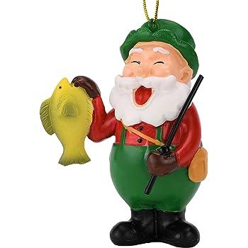 Tree Buddees Fishing Santa Claus Christmas Ornament
