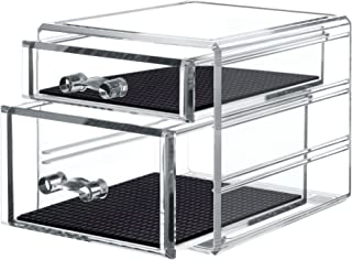 TWING Acrylic 2 Jewelry Box Organizer Display Storage case, Crystal and Unbroken Jewelry calener Drawer