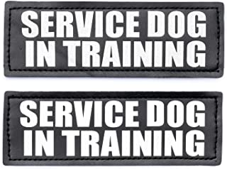 Service Dog in Training Patches, Hook Patches for Service Dog Vest - Service Dog, Emotional Support, in Training, Service Dog in Training, Therapy Dog in Training Patch w/Reflective Lettering