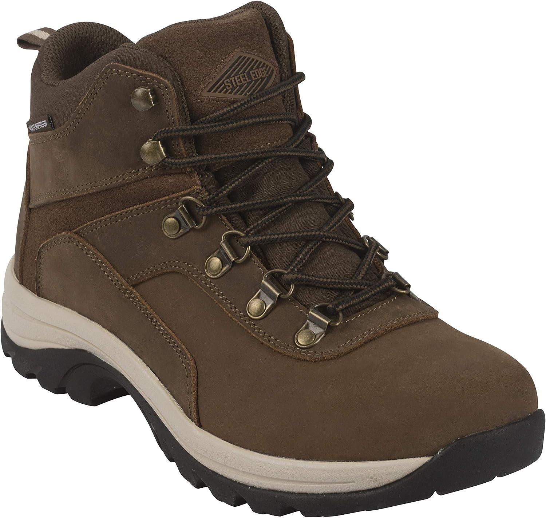 Steel Edge Mens Waterproof Hiking Boots Casual