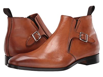 Massimo Matteo Boot with Buckle (Burnished Tan) Men
