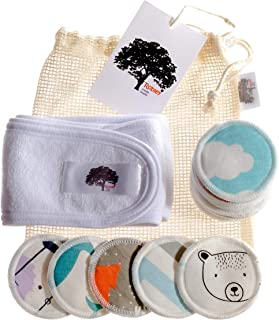 Reusable Makeup Remover Pads - 18 Pack 2.5 Inch - with Mesh Laundry Bag + Headband - Makeup Remover - Makeup Remover Wipes - Makeup Remover Pads - Makeup Removing Wipes - Eye Makeup Remover Pads