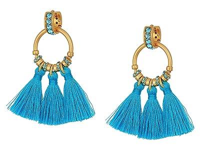 J.Crew Tiki Tassel Earrings (Vintage Aqua) Earring