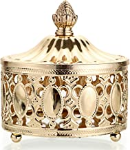 Crystal Gold Tracing Jewelry Box Decorative Storage Tank Home Ornaments
