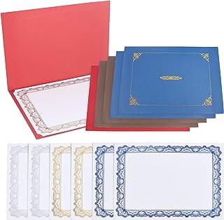 CRASPIRE 6 Paquet de Papiers de Certificat et de Support, Comprend 6 Porte-Certificat et 6 Feuilles de Papier de Certifica...