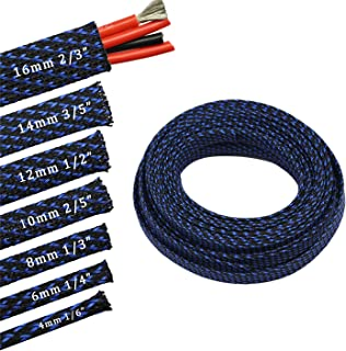 30ft PET Expandable Sleeving Flexo Wire Cable Sleeve (1/2