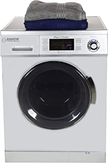 Equator All-in-one Compact Combo Washer Dryer 1200 RPM spin, Auto water level, Sensor Dry Optional Venting/Condensing in Silver