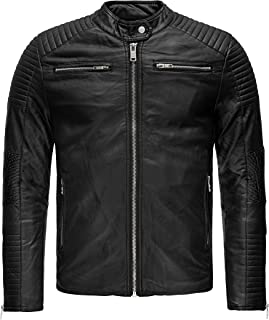 Redbridge Brooklyn Men's Faux Leather Jacket Slim Fit Black