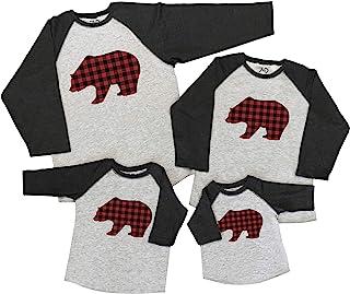 7 ate 9 Apparel Matching Family Christmas Shirts - Plaid Bear Grey Shirt