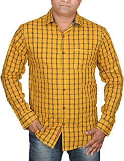 Hunk Men's Golden Cotton Shirt
