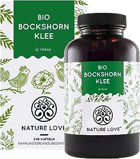 NATURE LOVE Bio Bockshornklee - 240 vegane Kapseln - Hochdosiert mit 2600mg 650mg je Kapsel - Laborgeprüft und frei von unerwünschten Zusätzen - zertifiziert Bio - in Deutschland produziert