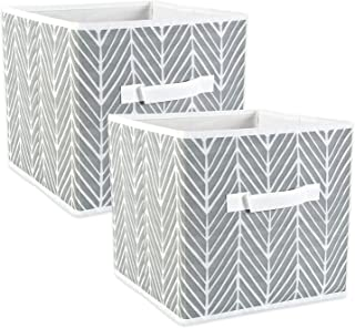 DII CAMZ38455 Foldable Fabric Storage Containers (Set of 2), Large (2), Gray