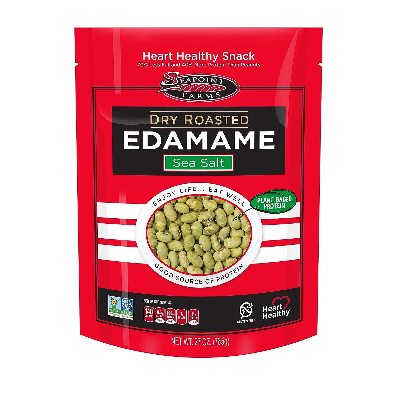 shipfree Seapoint Farms Sea Salt Dry Snack favorite Vegan Roasted Edamame Healthy