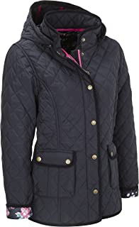 Womens Quilted Jacket (5038) Navy Blue Padded Coat