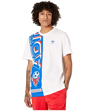 adidas Originals Side Scarf Tee (White/Blue) Men