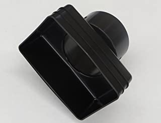 Plastic Universal Downspout to Drain Tile Adapter (4X6X4, BLACK)