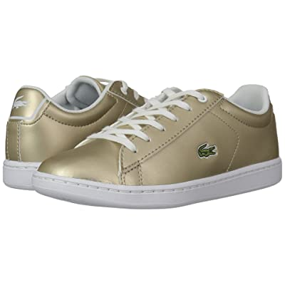 Lacoste Kids Carnaby Evo (Little Kid) (Gold/White) Kids Shoes