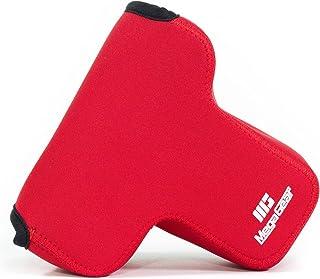 MegaGear MG1572 ultralekkie neoprenowe etui na aparat kompatybilne z Sony Alpha A7 III, A7R III, A9 (28-70 mm) - czerwone