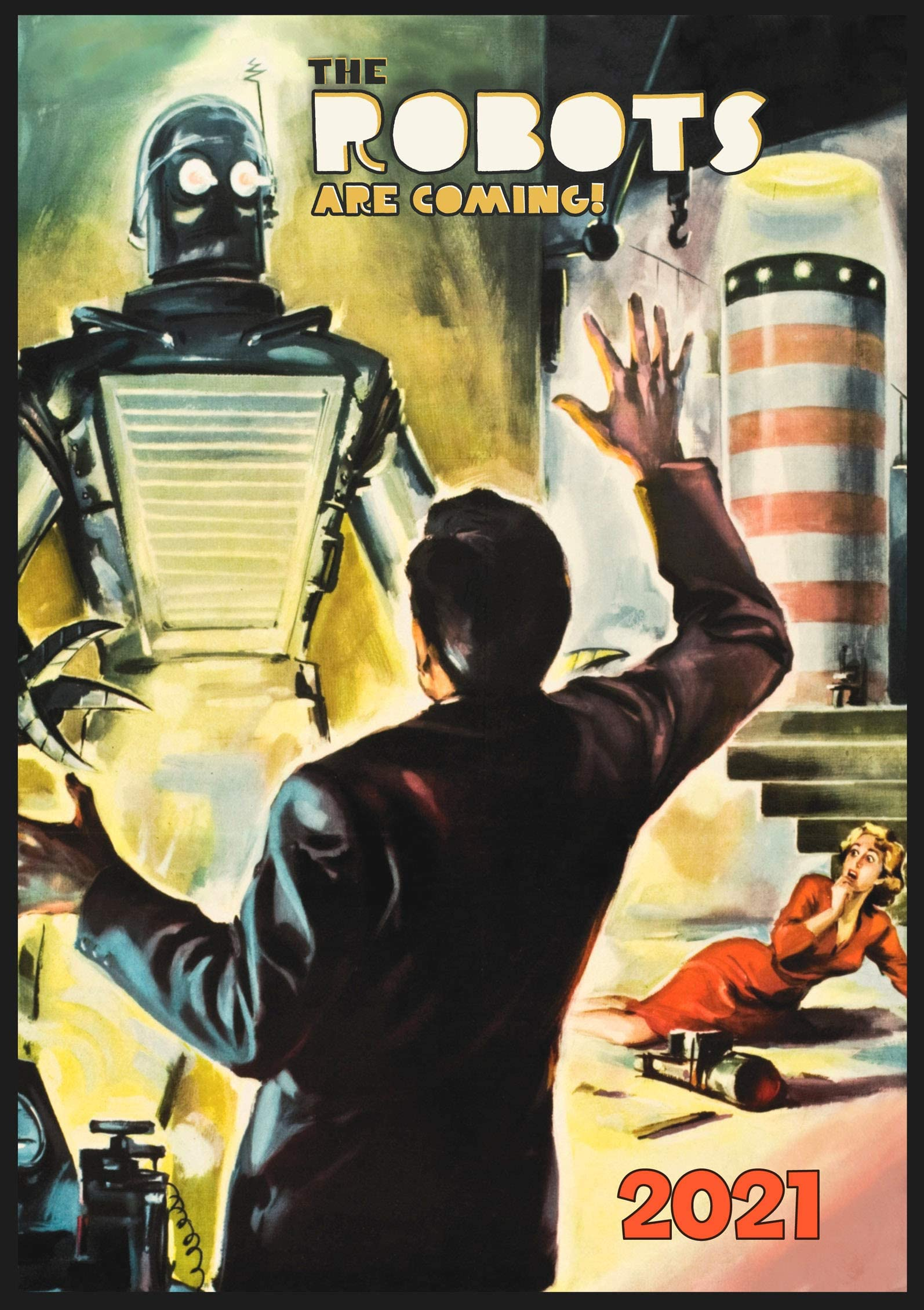 Wall Calendar 2021 12 pages 8x11 Vintage Sci-Fi Book Magazine Illustrations by Ed Valigurksy Reprint M-911