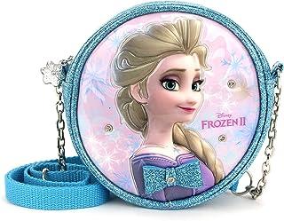 WINGHOUSE x Frozen II Elsa Princess Face Round Crossbody Shoulder Purse Mini Phone Bag for Kids Little Girls