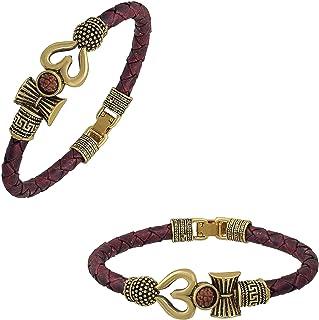 Utkarsh (Set Of 2 Pcs) Adjustable (Brown) Unisex Antique Stylish Trending Rudraksha Beads Shiva Om Mahakal Trishul Damroo ...
