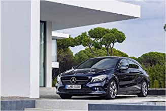 Mercedes-Benz CLA 250 4Matic Shooting Brake (2016) Car Print on 10 Mil Archival Satin Paper Dark Blue Front Side Static View 16