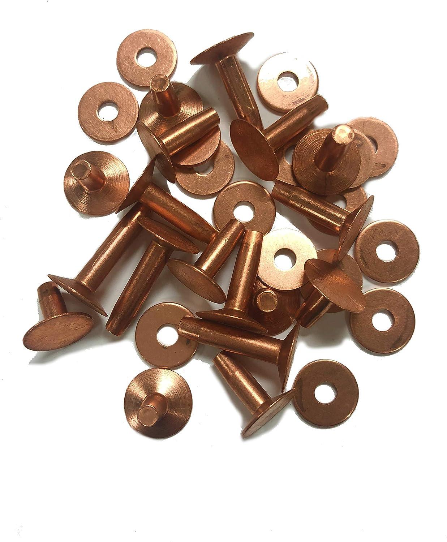 1 lb box CS Osborne 1700-9 Copper Rivets /& Burrs used with 170-9 Setter