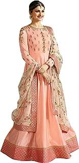 The Fashion Edge Women'S Peach Anarkali Salwar Suit