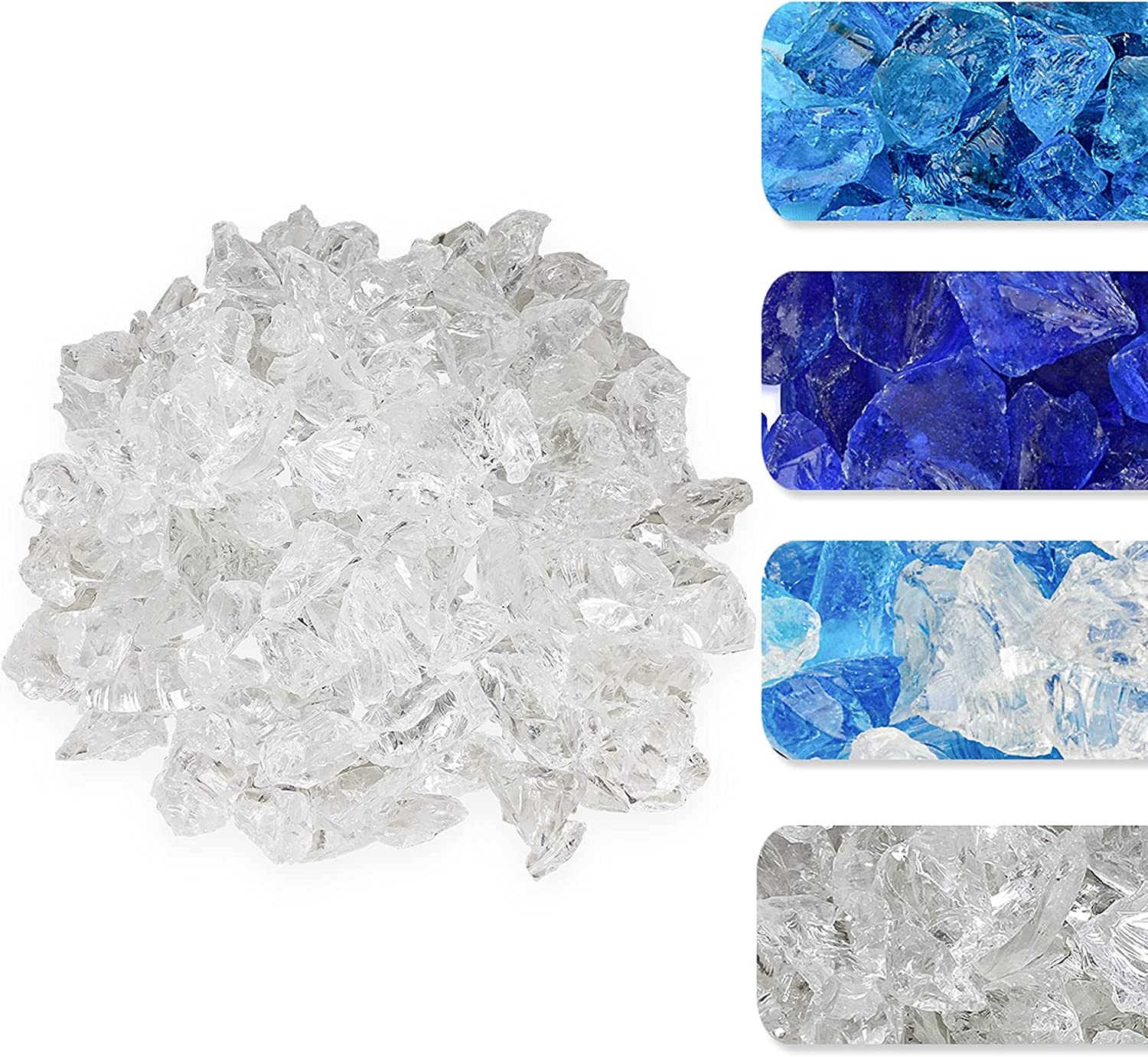 Skyflame 10-Pound Recycled lowest price Fire Albuquerque Mall Glass Pit Vas for Fireplace