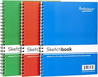 Artlicious - 3 Sketch Pads 9 in. x 12 in for Drawing Coloring & Doodling (3 Drawing Pads)