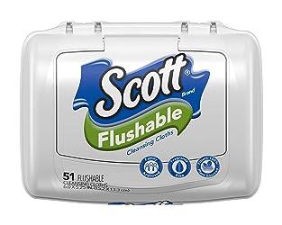Scott Natural Moist Wipe Tub, 51 ct
